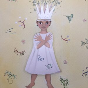 Orla the Little Prince in Mixed Media by Jane Ray