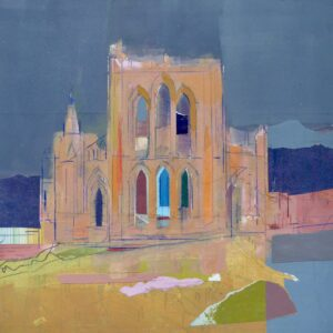 Rievaulx Abbey Mixed Media Painting by Colin Black