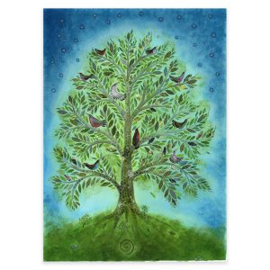 Green Tree, Original Artwork in Mixed Media by Jane Ray