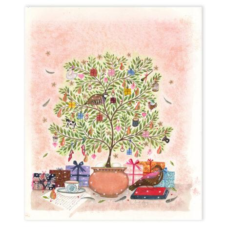 Patridge in a Pear Tree, Mixed Media by Jane Ray