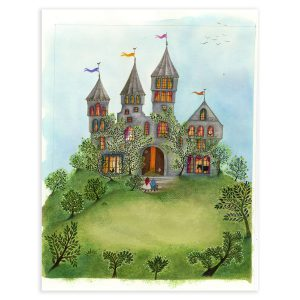 The Fairy Castle in Mixed Media by Jane Ray