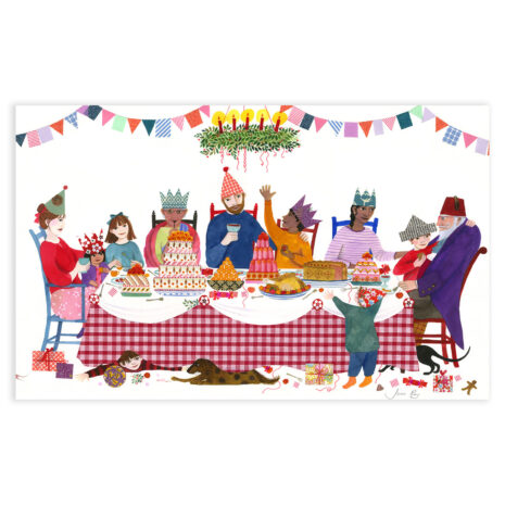 The Christmas Feast in Mixed Media by Jane Ray