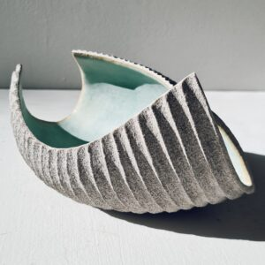 Drift Fragment Jade Green, Stoneware by Michele Bianco