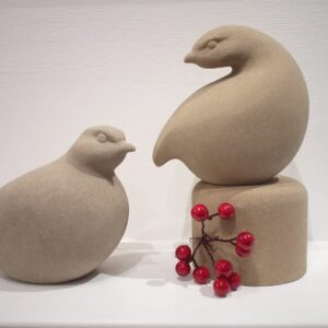 Partridge stone sculpture by Jennifer Tetlow