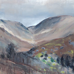 From Kirkstone Pass Acrylic on Linen by Tracy Levine