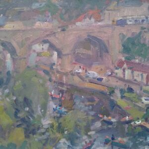 Knaresborough Oil on Panel by Andrew Farmer ROI
