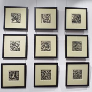 Set of Nine Limited Edition Linocut Prints by Richard Allen
