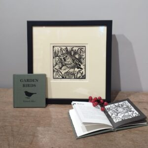 Richard Allen Gift Set of Limited Edition Linocut Bird Print plus Book