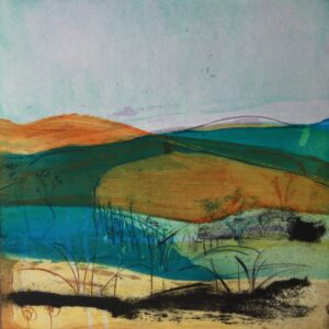The Endless Moors, Etching by Louise Davies RE