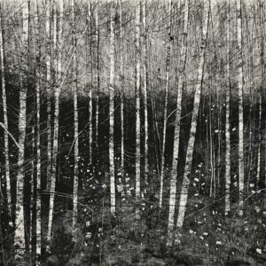 Lockdown Walk I Monoprint by David A Parfitt RI