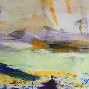 Spring The Four Seasons Monoprint by Louise Davies RE