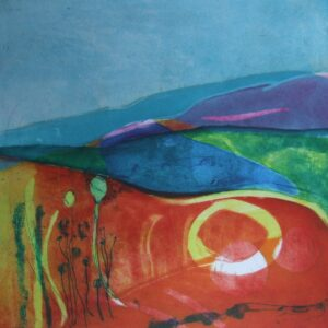 Summer Solstice Etching Louise Davies RE
