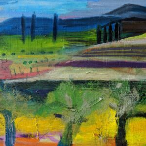 The Olive Groves, Painting Louise Davies