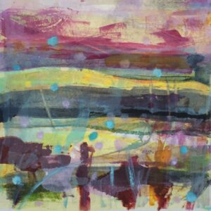 Winter The Four Seasons Monoprint by Louise Davies