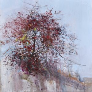 Hawthorn Beneath Bamburgh Castle, Painting by Pascale Rentsch